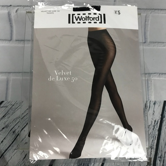 Wolford Accessories - Wolford Velvet De Luxe 50 Tights Pantyhose Black